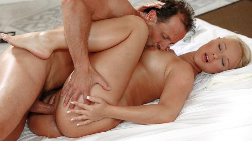 Blonde Big Tits Oil Massage