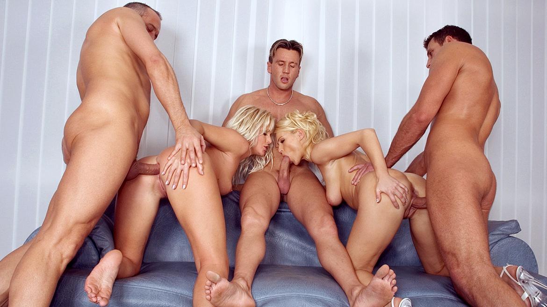 Hard core porno orgia