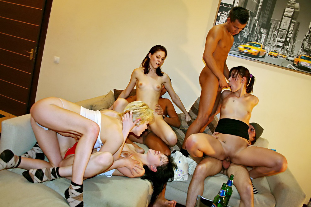 There Is A Small College Sex Party Going On In This Room